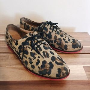 Steve Madden leopard leather loafers